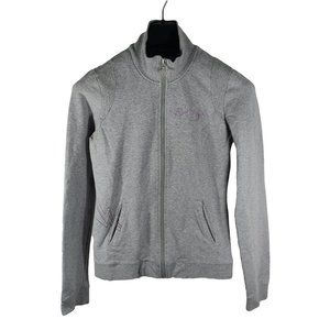 VOLCOM Gray Full Zip Embroidered Hoodie M